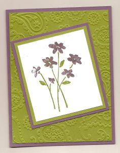 green flower, Karen's Cards