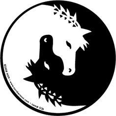 Horse Yin Yang Static Cling