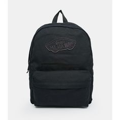 82d31a3cac Vans Realm Backpack in Black (12.040 HUF) ❤ liked on Polyvore featuring  bags,
