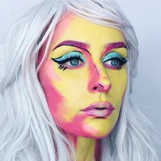 ANDY WARHOL inspired  from my @litcosmetics collab (info for the glitter giveaway is in my last post)! Products: @makeupforeverofficial Flash Palette, @litcosmetics Magic Dragon & Abba glitters, @houseoflashes Sirens, @anastasiabeverlyhills @norvina Jet Creme Color. Use code KAYLAHAGEY at checkout for 20% off your glitter order!