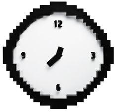 Clock, Wall, Pixel