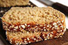 Pão de aveia caseiro fit sem glúten, sem leite, sem ovo com apenas 5 ingredientes