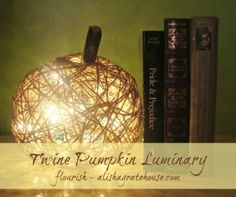 Twine Pumpkin Luminary - Flourish