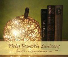 Twine Pumpkin Luminary - Flourish