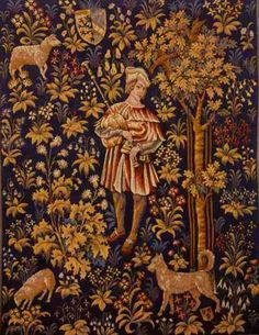 Superb medieval-Millefleur-tapestry
