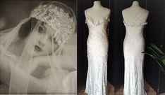 1930s Style Wedding Dress Ivory Silk Dress 1930s Wedding Dress Bias Cut Dress Devore Silk Dress Vintage Wedding Dress Art Deco Dress by STILLCHIC on Etsy