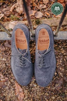 A lightweight version of the iconic Tricker's Bourton country shoe in navy castorino suede, with an Ultra Flex leather sole. #trickersbourton #trickersshoes #navysuede #suedeshoes Trickers Shoes, Shoe Horn, Shoe Tree, Look After Yourself, Derby Shoes, Office Wear, Types Of Shoes, Suede Shoes, Brogues