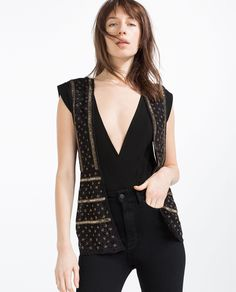BEADED WAISTCOAT - View All - OUTERWEAR - WOMAN | ZARA United States
