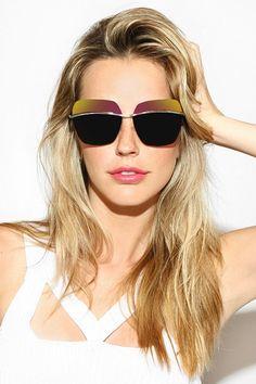 'Metallic' Designer Inspired Square Sunglasses - Green #5559-1