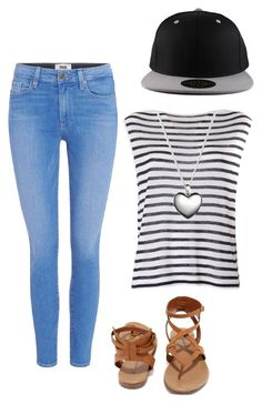 """Casual 7"" by amuh2002 on Polyvore featuring Paige Denim, Breckelle's, T By Alexander Wang and Pandora"