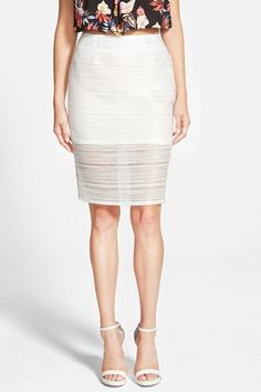 Whitney Eve | 'Mosquito Bay' Pencil Skirt (Juniors) | Nordstrom Rack