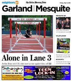 "05/11: Mesquite High hurdler Jordan Bracy: ""I'm going to try and get my mom the gold medal for Mother's Day.""    http://www.neighborsgo.com/stories/82946"