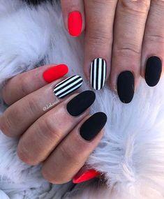 nails red and black \ nails red and black ; nails red and black design ; nails red and black acrylic ; nails red and black prom ; nails red and black matte ; nails red and black glitter ; nails red and black ombre ; nails red and black coffin Elegant Nail Designs, Elegant Nails, Classy Nails, Stylish Nails, Nail Art Designs, Elegant Chic, Black Nail Designs, Pretty Designs, Gorgeous Nails