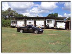 Neat outdoor storage. Outdoor Storage, Caravan, Motorhome