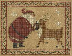Primitive Cross Stitch Pattern  Tis the Season by FiddlestixDesign