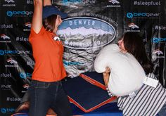 Pillow fight at Crush Night Out!