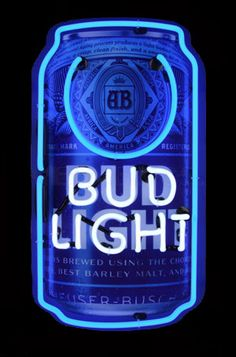 Bud Light Signs. Beer Neon Signs. Lighted Garage Signs. Best Garage Art available!