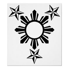 3 Stars and Sun Print from http://www.zazzle.com/sun+gifts