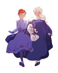 Frozen Fan Art: Anna, Elsa and Olaf Arte Disney, Disney Fan Art, Disney Love, Princess Drawings, Princess Art, Disney Princess, Jelsa, Frozen Fan Art, Disney Frozen Elsa