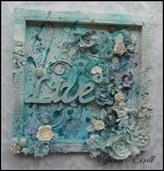 Wild Orchid Crafts: Blue canvas
