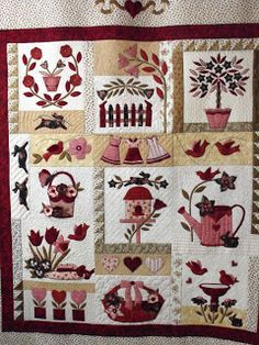 A Vintage christmas by Bunny Hill Designs - would love to do this ... : bunny hill quilt patterns - Adamdwight.com