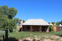 Old house, South Australia.. typical veranda, corrugated iron roof