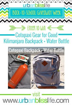 Back to school backpack & water bottle giveaway @urbanbliss