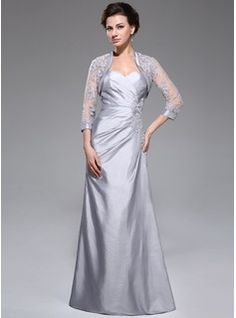 Kleider für die Brautmutter - $151.99 - A-Linie/Princess-Linie Herzausschnitt Bodenlang Taft Kleid für die Brautmutter mit Rüschen Spitze Perlen verziert Pailletten  http://www.dressfirst.com/de/A-Linie-Princess-Linie-Herzausschnitt-Bodenlang-Taft-Kleid-Fuer-Die-Brautmutter-Mit-Rueschen-Spitze-Perlen-Verziert-Pailletten-008040828-g40828