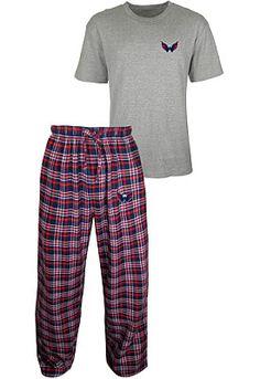 3089c1563 College Concepts Washington Capitals Empire Flannel Pant  amp  Top Set -  Shop.NHL.