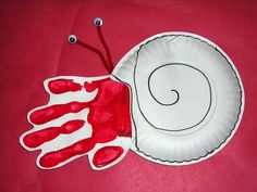 "Paper plate hermit crab to go along with ""A House for Hermit Crab"" by Eric Carle"