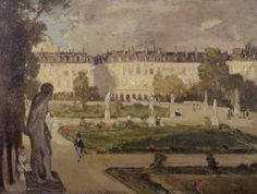 The Tuileries Gardens and the Rue de Rivoli, 1901-02 by Alexander Jamieson (Scottish 1873-1937)