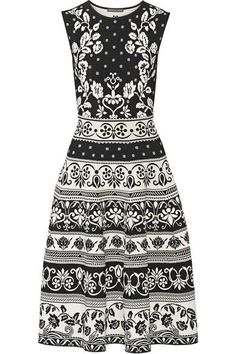 Alexander McQueen - Stretch Jacquard-knit Dress - Black -