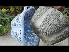 Casting cement pot from Plastic basket at home very easily.