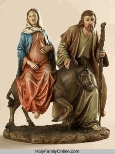 Holy Family La Posada statue -- depicts the journey to Bethlehem