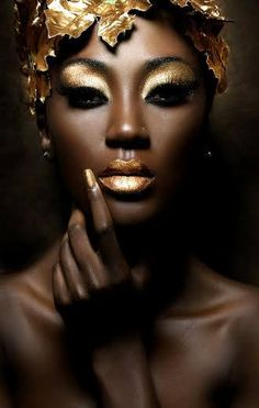 Makeup Gold Look Black Women Ideas For 2019 - Makeup Looks Dramatic Gold Makeup, Makeup Art, Makeup Lips, Easy Makeup, Prom Makeup, Wedding Makeup, Makeup Ideas, Make Up Gold, Gold Aesthetic