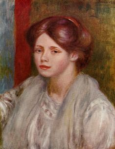 Portrait of a Young Woman  - Pierre Auguste Renoir - circa 1883-1887