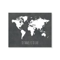 Grey printable world map distressed vintage texture map print to travel is to live world map gumiabroncs Choice Image