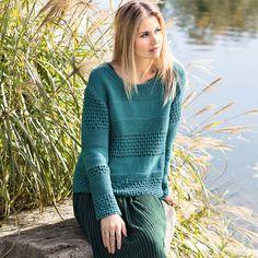 Иссиня-зеленый джемпер с сочетанием узоров