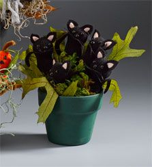 Black cats out of an old glove.  This would be easy to turn in to mice with a white glove