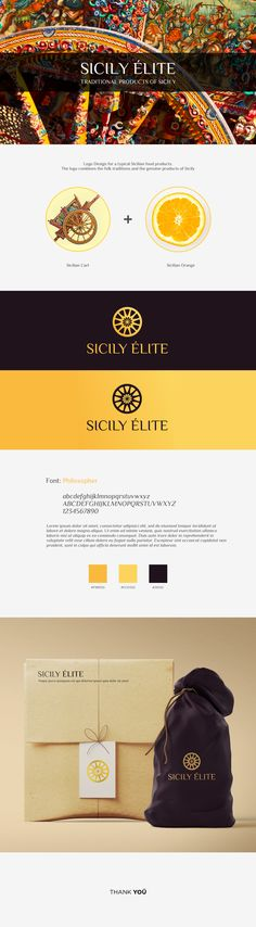 Logo Design for a typical Sicilian food products. The logo combines the folk traditions and the genuine products of Sicily