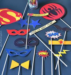 Superhero Birthday Party Sign Poster Photo Booth Red Black Happy Boy Girl 1st 2nd 3rd 4th 5th 6th 7th 8th Boogie Bear Invitations Max Theme