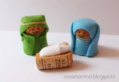 Nativity Crafts for Kids is part of Small Cork crafts - Simple wine cork, felt and elastic band nativity crafts for kids, no glueing, no cost kids craft Kids Crafts, Christmas Crafts For Kids, Holiday Crafts, Arts And Crafts, Christmas Decorations, Nativity Crafts, Christmas Nativity, Noel Christmas, Christmas Ornaments