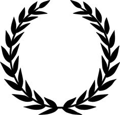 "A laurel wreath is a circular wreath made of interlocking branches and leaves of the bay laurel (Laurus nobilis). In ancient Greece wreaths were awarded to victors, both in athletic competitions, including the ancient Olympics made of wild olive-tree known as ""kotinos"" (κότινος); in Rome they were symbols of martial victory, crowning a successful commander during his triumph. Whereas ancient laurel wreaths are most often depicted as a horseshoe shape, modern versions are usually complete"