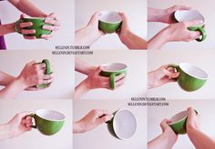 Hands reference 4 - cups by Sellenin on DeviantArt Hand Drawing Reference, Human Poses Reference, Pose Reference Photo, Body Reference, Anatomy Reference, Reference Images, Art Poses, Drawing Poses, Drawing Tips