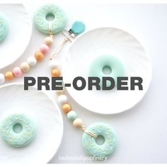The one and only DONUT teether from Loulou Lollipop Silicone Donut by LouLouLollipopFinery
