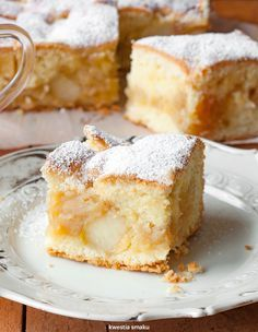 A fluffy apple pie Polish Desserts, Polish Recipes, Cookie Desserts, Just Desserts, Delicious Desserts, Dessert Recipes, Keks Dessert, Dessert Bars, Cake Cookies