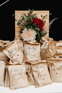 wedding favor bags -