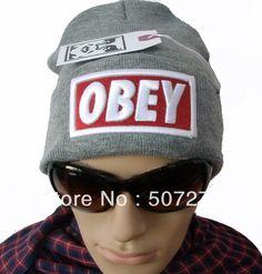 5d70d018ade Beshion knitting OBEY Beanie hat