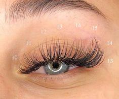 Natural Fake Eyelashes, Perfect Eyelashes, Best Lashes, Fake Lashes, Makeup Eye Looks, Skin Makeup, Eyelash Extensions Styles, Natural Looking Eyelash Extensions, Volume Lash Extensions