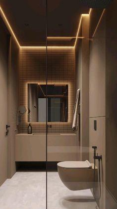 Modern Luxury Bathroom, Modern Small Bathrooms, Bathroom Design Luxury, Modern Bathroom Design, Black Bathrooms, Luxurious Bathrooms, Minimalist Bathroom Design, Small Bathroom Tiles, Bathroom Ideas